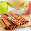 Stock Photo: Apple and cinnamon