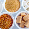 Variations of sugar - Stock Photo