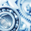 Machine gear, metal cogwheels, nuts and bolts — Stock Photo #14309029