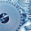Machine gear, metal cogwheels, nuts and bolts — Stockfoto
