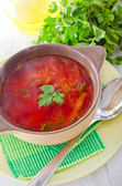 Fresh soup with vegetables — Stock Photo