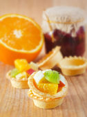 Fruit tartlet — Stock Photo