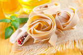 Raw pasta with spice — Foto de Stock