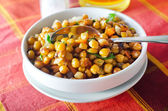 Bowl of chickpeas — Stock Photo