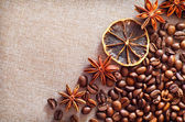 Coffee and aroma spice — Stock Photo