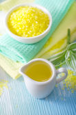 Aroma oil and salt — Stock Photo