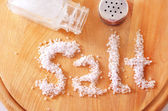 белая соль — Стоковое фото