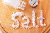 Biała sól — Zdjęcie stockowe