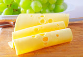 Sliced cheese — Stock Photo