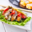 Eel fish meat on a plate - Stock Photo