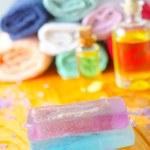 Spa still life with handmade soap — Stock Photo #14312169