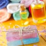 Spa still life with handmade soap — Stock Photo #14312171