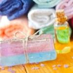 Spa still life with handmade soap — Stock Photo #14312177