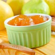 Fresh homemade applesauce - Stock Photo