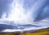 Storm in mountain — Stock Photo