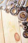 Mechanical ratchets, nuts and bolts — Stock Photo