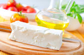 Feta cheese and oil — Stock Photo