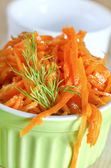 Carrots in a bowl — Stock Photo