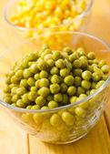 Green peas and corn — Stock Photo