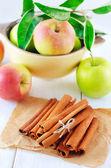 Jablko a skořice — Stock fotografie