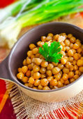 Boiled chickpeas — Stock Photo