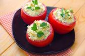 Tomato with cheese — Stock Photo