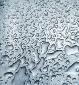 Drops on metal — Стоковое фото