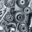 Supplies for industrial, nuts and bolts - Stock Photo