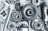 Supplies for industrial, nuts and bolts — Stock Photo