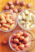 Different kind of nuts — Stock Photo