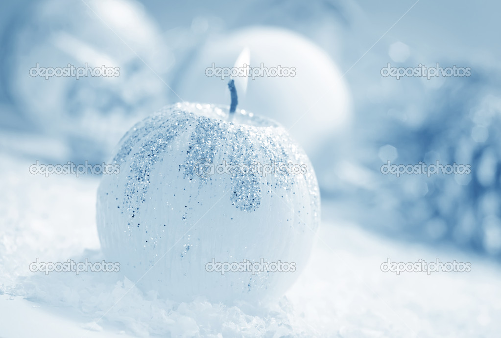 Candle and other christmas decoration — Foto Stock #17825107