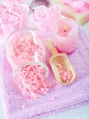 Sal e sabão de aroma — Foto Stock