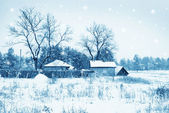 Winter vilage — Stock Photo
