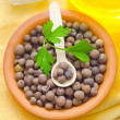 Pepper in bowl — Stockfoto #18425599