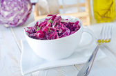 Salad with blue cabbage — Stock Photo