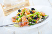 Salad with salmon — Stock Photo
