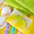 Stockfoto: Aromsoap and salt
