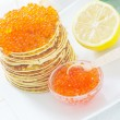 Pancakes with caviar — Stock Photo #19382295