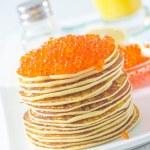 Pancakes with caviar — Stock Photo #19382317