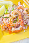 Ice with shrimps — Stock Photo