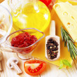 Stock Photo: Ingredients for lasagna