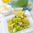 Salad with avocado - Stock Photo