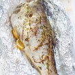 Stock Photo: Baked fish
