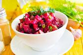 Salad with beet — Stock Photo