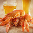 Crabs and beer — Stock Photo #20345045