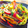 Stock Photo: Stir fried variety of vegetables , Thai style food