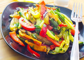 Stir fried variety of vegetables , Thai style food — Stock Photo