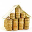House from coins — Stock Photo
