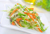 Fresh salad with vegetable — Stock Photo