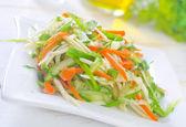 Fresh salad with vegetable — Stock Photo